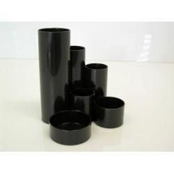 Multiköcher Schreibtisch-Boy Kunststoff rund 6 Fächer schwarz