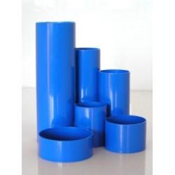 Multiköcher Schreibtisch-Boy Kunststoff rund 6 Fächer blau