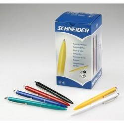 Kugelschreiber Schneider K15 M Schaft farbig sortiert Mine blau 50 St.