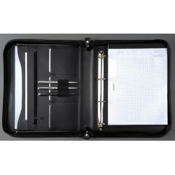 Konferenzmappe LIMONE Leder Reißverschluss A4 schwarz