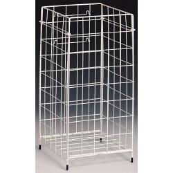 Handtuch Abfallbehälter 61,2x30,6x30,6 Draht weiß
