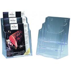 Prospektständer Aufsteller 3 Fächer A4 244x160x320mm transparent