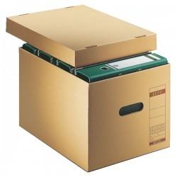 Archivbox Umzugskarton DIN A4 Leitz 6081 mit Deckel mit Grifflöchern 10St