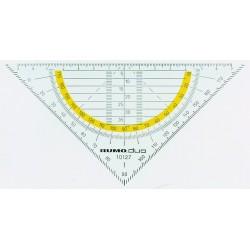 Geometrie-Dreieck RUMOLD 16cm rauchgrau getönt / 1 Stück
