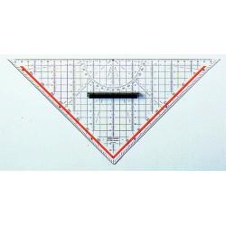 Geometrie-Dreieck mit abnehmbarem Griff Hypotenuse 25cm