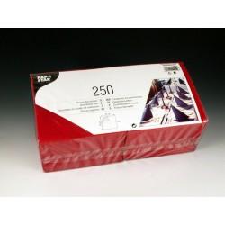 Servietten 3-lagig 1/4 Falz 33x33cm Tissue bordeaux / 250er Pack
