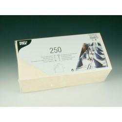 Servietten 3-lagig 1/4 Falz 33x33cm Tissue creme / 250er Pack