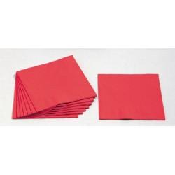 Servietten 3-lagig 1/4 Falz 33x33cm Tissue rot / 250er Pack