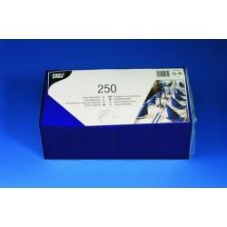 Servietten 3-lagig 1/4 Falz 33x33cm Tissue blau / 250er Pack
