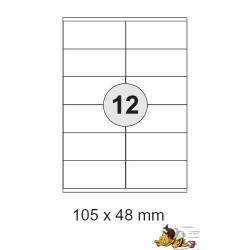 Etiketten Selbstklebe-Etiketten 105x48mm E05 (3600 Stück = 3 Päckchen)