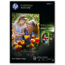 Fotopapier HP Everyday Photo A4 170 g/m² weiß seidenmatt  25Blatt