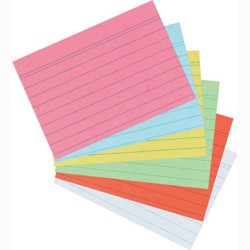 Karteikarten liniert DIN A5 190g/m² blau (Pckg. á 100 Stück)