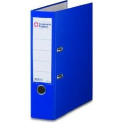 Ordner A4 80 mm breit Color PP Einsteckrückenschild blau 25 St.