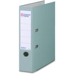 Ordner A4 80 mm breit Color PP Einsteckrückenschild grau 1 St.