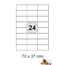 Etiketten Selbstklebe-Etiketten 70x37,1mm E07 (4800 Stück = 2 Päckchen)