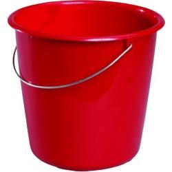 Eimer Kunststoff mit Metallbügel ohne Ausgießer 5 Liter rot / 1 Stck.