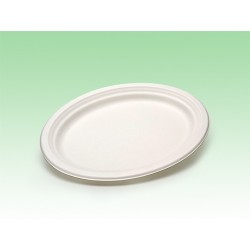 Biobiene®Platte Servierplatte oval 320x250x20mm (50 Stück)