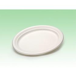 Biobiene®Platte Servierplatte oval 310x250x22mm (400 Stück = 1 Karton)