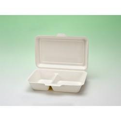 Biobiene®Lunchbox 320x242x34/48mm 2 Fächer (1000 Stück = 2 Kartons á 500 Stück)