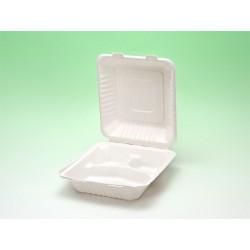 Biobiene®Lunchbox 438x200x35/47mm 3 Fächer (100 Stück)