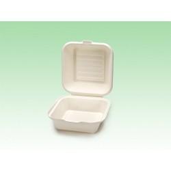 Biobiene® Hamburgerbox 450ml Zuckerrohrbagasse (50 Stück)