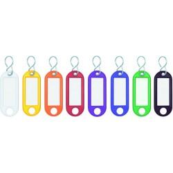 Schlüsselanhänger Kunststoff mit S-Haken farbig sortiert (100 St.)