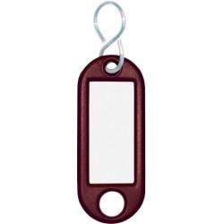 Schlüsselanhänger Kunststoff mit S-Haken 52x21x3mm braun (1 St.)