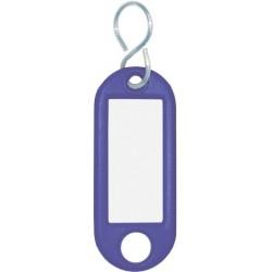 Schlüsselanhänger Kunststoff mit S-Haken 52x21x3mm blau (1 St.)