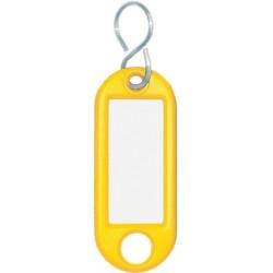 Schlüsselanhänger Kunststoff mit S-Haken 52x21x3mm gelb (1 St.)