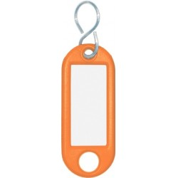 Schlüsselanhänger Kunststoff mit S-Haken 52x21x3mm orange (1 St.)