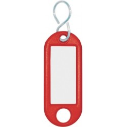 Schlüsselanhänger Kunststoff mit S-Haken 52x21x3mm rot (1 St.)