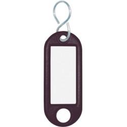 Schlüsselanhänger Kunststoff mit S-Haken 52x21x3mm schwarz (1 St.)