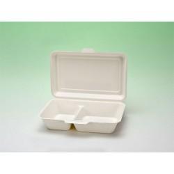 Biobiene®Lunchbox 320x242x34/48mm 2 Fächer (1 Karton á 500 Stück)