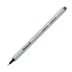 Fineliner Pelikan 96 EF 0,4mm Schaft silber Schreibf. schwarz 10St.