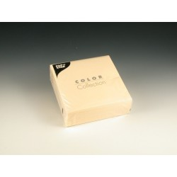 Servietten 33x33cm 3-lg 1/4 Falz Tissue Creme 1 Pckg. á 50St.