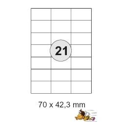 Etiketten Selbstklebe-Etiketten 70x42,3mm E10 (10500 Stück = 5 Päckchen)