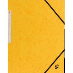 Eckspanner Sammelmappe 3 Klappen A4 Karton 350g/m² gelb