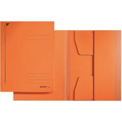 Jurismappe Leitz 3924 Karton 300 g/m² 3 Klappen A4 für 250 Blatt orange