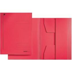 Jurismappe Leitz 3924 Karton 300 g/m² 3 Klappen A4 für 250 Blatt rot