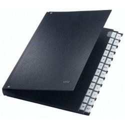Pultordner A-Z A4 Leitz 5924 PP-kaschiert 24 Fächer schwarz