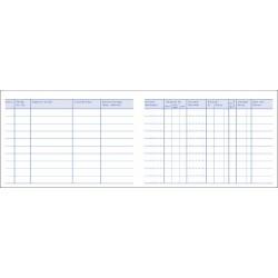 Fahrtenbuch A6 quer Papier weiß 40 Blatt Zweckform 222