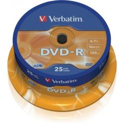 DVD-Rohling 4,7GB DVD-R Verbatim 16x  Spindel=25 Stück