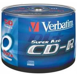 CD-Rohling Verbatim 700MB 80min 52x CD-R printable Spindel=50St.