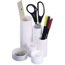 Schreibtischbutler Köcher Wedo Junior Kunststoff 6 Röhren weiß