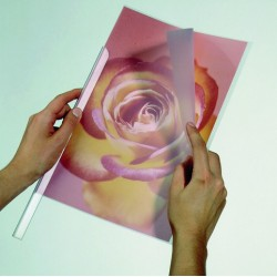 Klemmschienenhülle Durable A4 transparent f. 100 Blatt