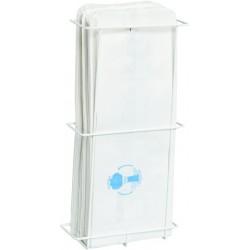 Spender für Hygienebeutel Metall für 100 Hygienbeuteleutel weiß