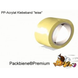Klebeband Packbiene®Premium Transparent Leise 50mmx66 (6 Rollen)