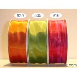 Schleifenband mit Drahtkante Lyon 40mmx25m grün pistazie 535