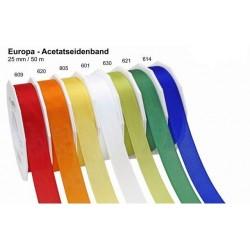 Schleifenband Europa 25mmx50m rot 609