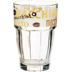 Glas Trinkglas Latte Macchiato HAPPY HOURS konisch 370ml 6er Pack